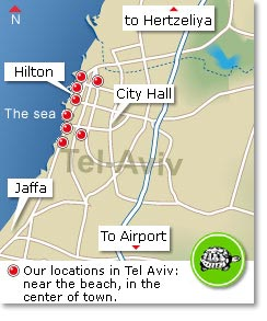 Vacation Rental Tel Aviv - Locations